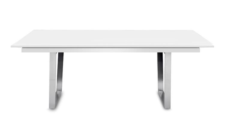 Jedálenský stôl Deck 190 cm, rozkladacia (doska biela/kostra oceľ)