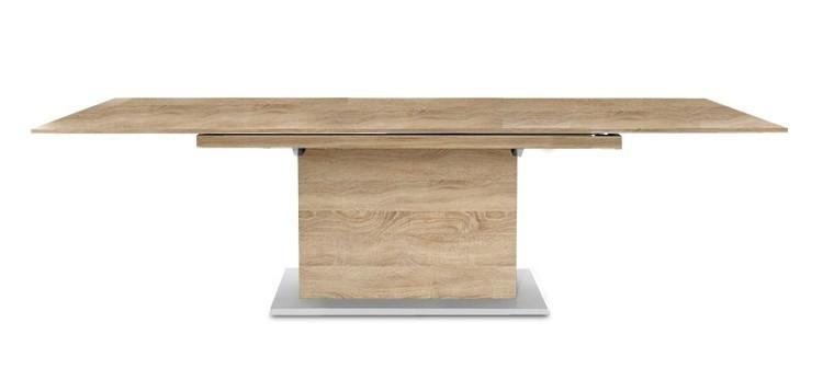 Jedálenský stôl Deck 190 cm, rozkladacia (doska dub/kostra postavec dub)