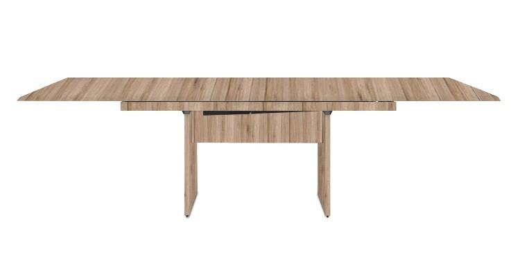 Jedálenský stôl Deck 190 cm, rozkladacia (doska pieskový dub/pieskový dub)