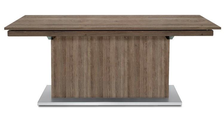 Jedálenský stôl Deck 190 cm, rozkladacia (tmavý dub/tmavý dub)