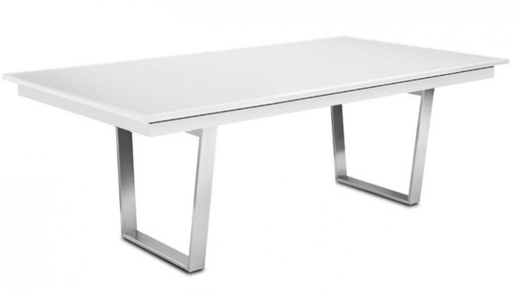 Jedálenský stôl Deck 220 cm (doska biela/kostra oceľ)