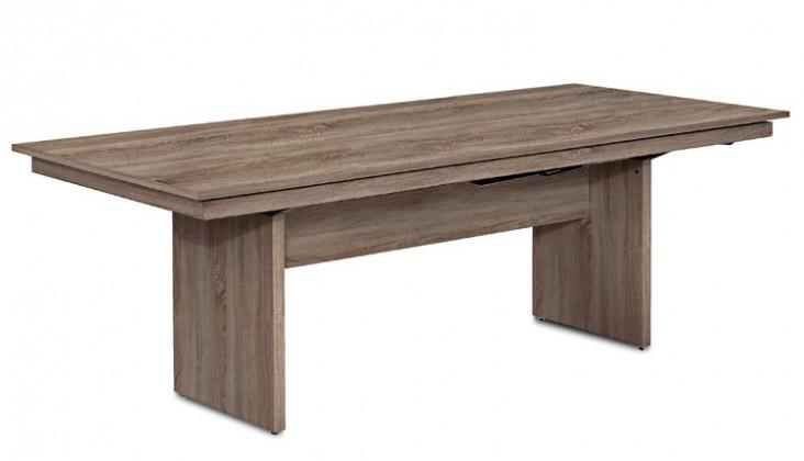 Jedálenský stôl Deck 220 cm (doska tmavý dub/kostra panely tmavý dub)
