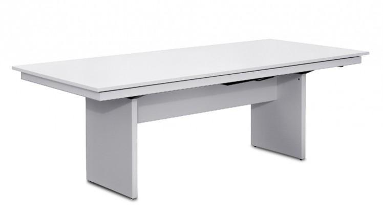 Jedálenský stôl Deck 220 cm, rozkladacia (doska biela/kostra panely biela)