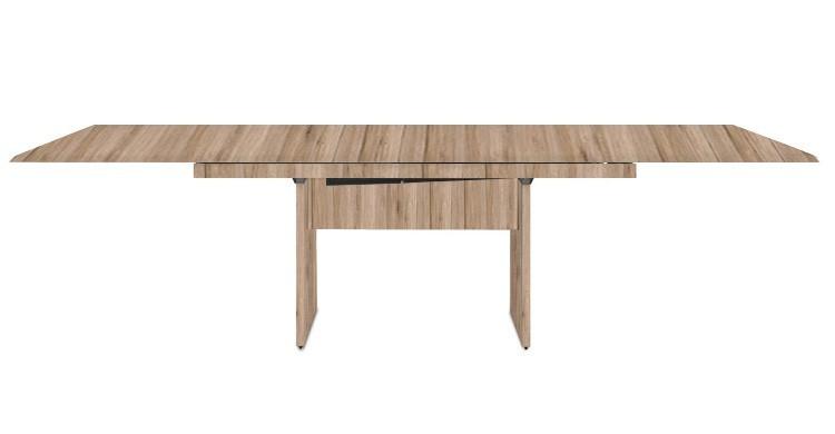 Jedálenský stôl Deck 220 cm, rozkladacia (doska pieskový dub/pieskový dub)