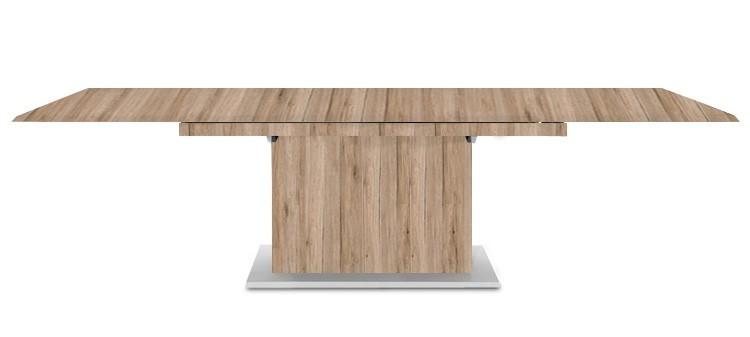 Jedálenský stôl Deck 220 cm, rozkladacia (pieskový dub/pieskový dub)