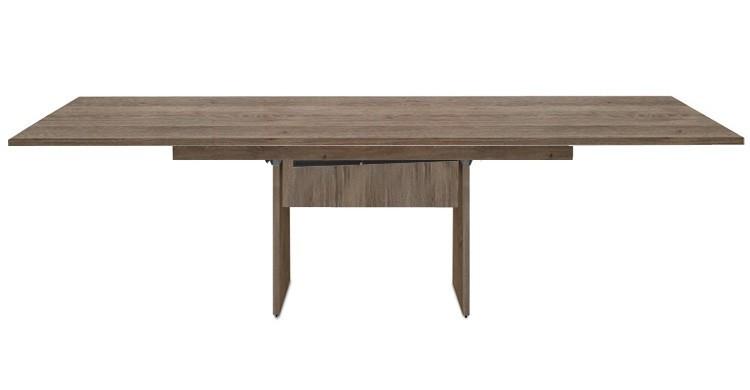 Jedálenský stôl Deck 220 cm, rozkladacia (tmavý dub/kostra panely tmavý dub)