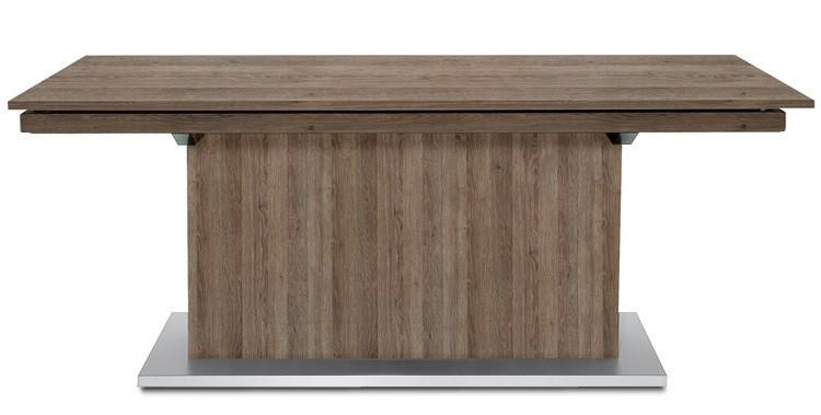 Jedálenský stôl Deck 220 cm, rozkladacia (tmavý dub/tmavý dub)