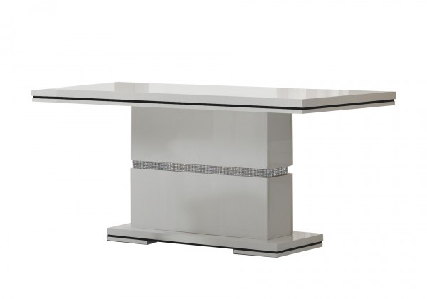 Jedálenský stôl Diva - Jedálenský stôl 160 cm (biela/diamant)