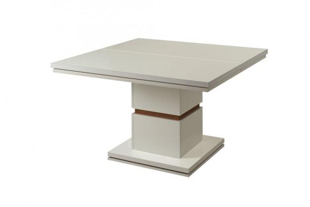 Jedálenský stôl Diva - Jedálenský stôl, štvorcový (biela/orech)
