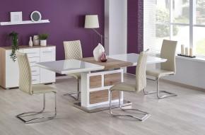 Jedálenský stôl Domus - rozkladací (bílá/dub san remo)