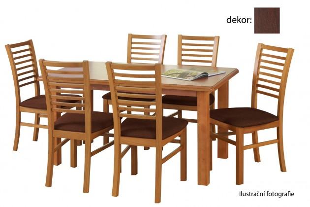 Jedálenský stôl Emil (orech tmavý)