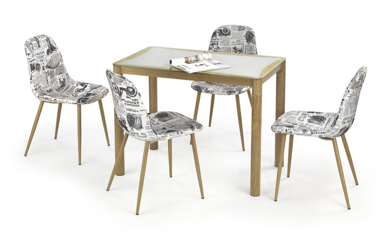 Jedálenský stôl Epir - Jedálenský stôl 100x60 cm (dub sonoma+sivá, dub medový)