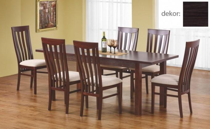 Jedálenský stôl Ernest 160/200 cm (tmavý orech)