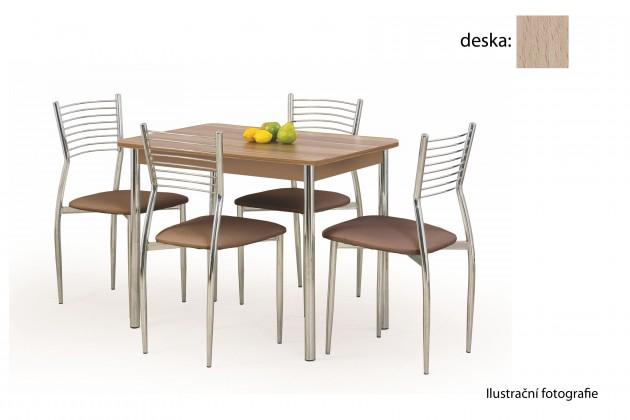 Jedálenský stôl Factor (dub sonoma / chróm)