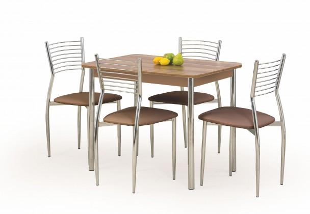 Jedálenský stôl Factor (orech / chróm)