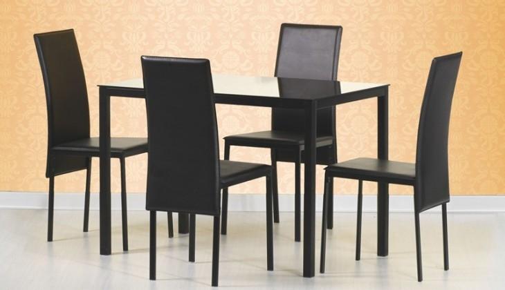 Jedálenský stôl Fidel (sklo / čierna)