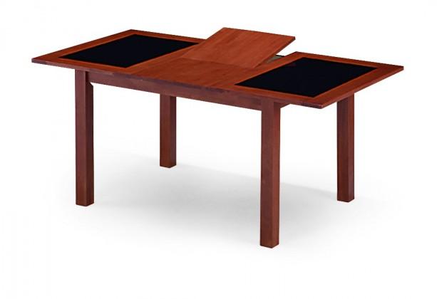 Jedálenský stôl FIGARI(kaučukovník / sklo, morenie čerešňa)