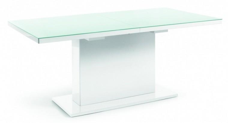 Jedálenský stôl Fin (doska biela/podstavec biely)