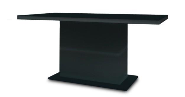 Jedálenský stôl Fin (doska čierna/podstavec čierny)