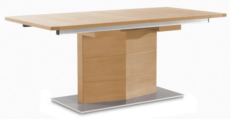 Jedálenský stôl Fin (doska, panel dub/podstavec hliník)