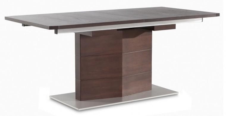 Jedálenský stôl Fin (doska, panel wenge/podstavec hliník)