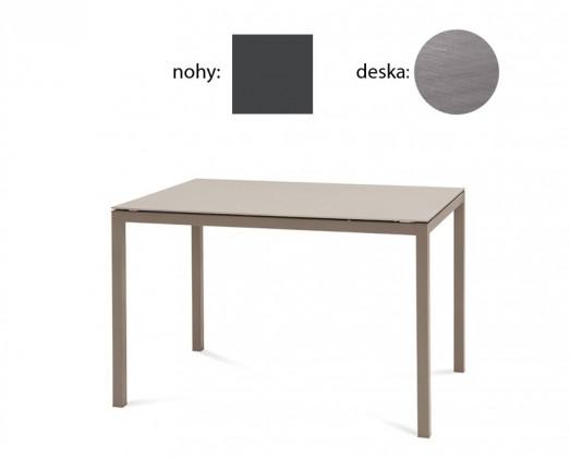 Jedálenský stôl Full (lak antracit matný, antický dub)
