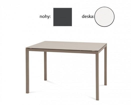 Jedálenský stôl Full (lak antracit matný, biela matná)