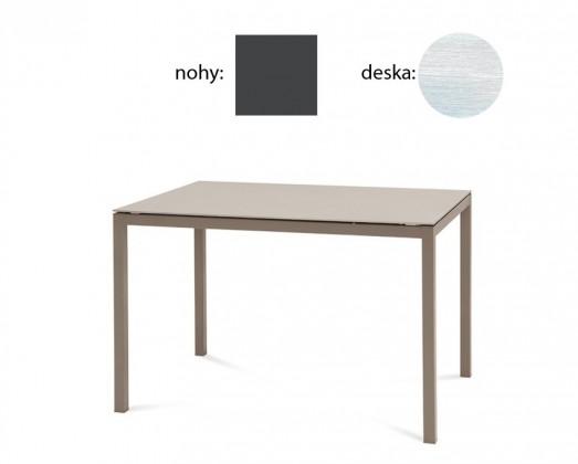 Jedálenský stôl Full (lak antracit matný, biela štruktúra)