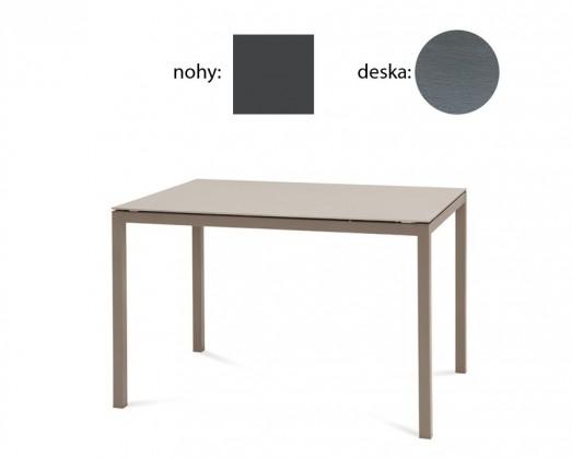 Jedálenský stôl Full (lak antracit matný, sivá štruktúra)