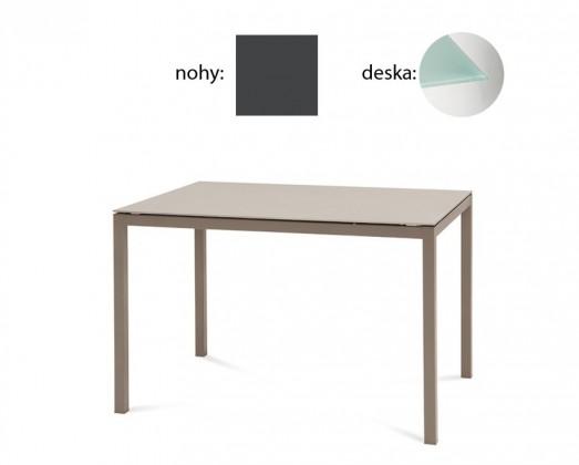 Jedálenský stôl Full (lak antracit matný, tlačené sklo)