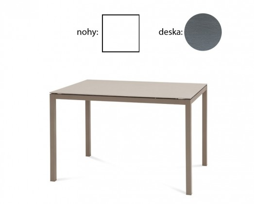 Jedálenský stôl Full (lak biely matný, sivá štruktúra)