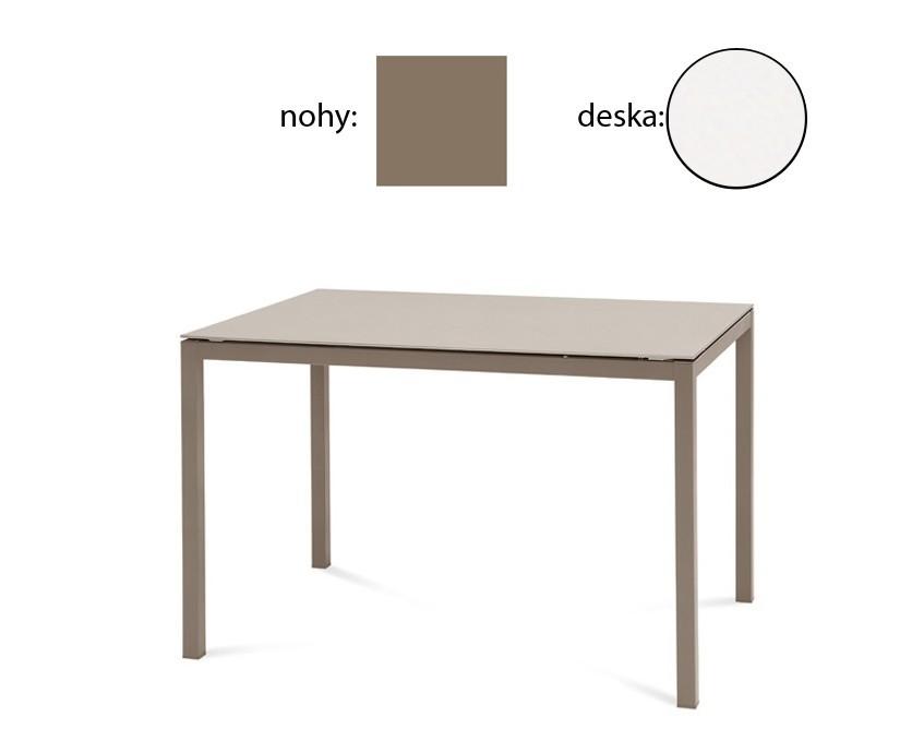 Jedálenský stôl Full (lak taupe matný, biela matná)
