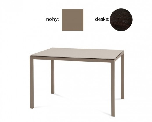 Jedálenský stôl Full (lak taupe matný, wenge)