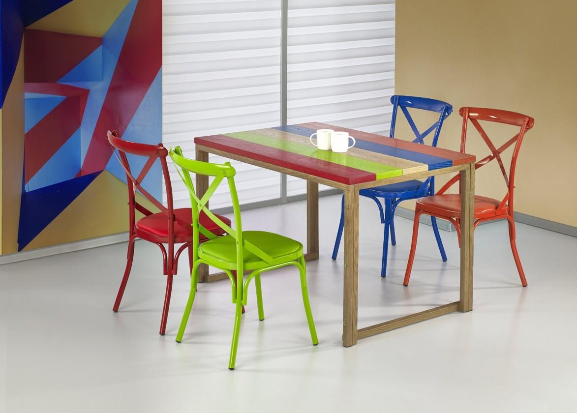 Jedálenský stôl Garmin - Jedálenský stôl 120x80 cm (viacfarebný, dub medový)