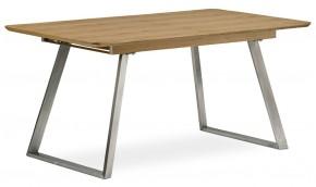 Jedálenský stôl Gate rozkladací (dub svetlý, strieborná)