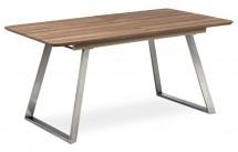 Jedálenský stôl Gate rozkladací (dub tmavý, strieborná)