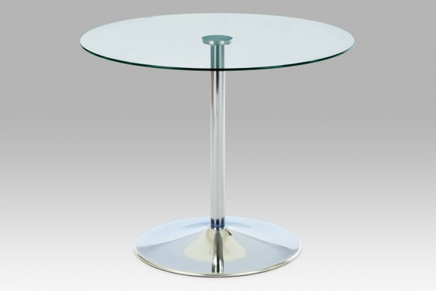 1a3a60c18abaf ... Jedálenský stôl GDT - Jedálenský stôl, číre sklo/chrom (90x75x90 cm)