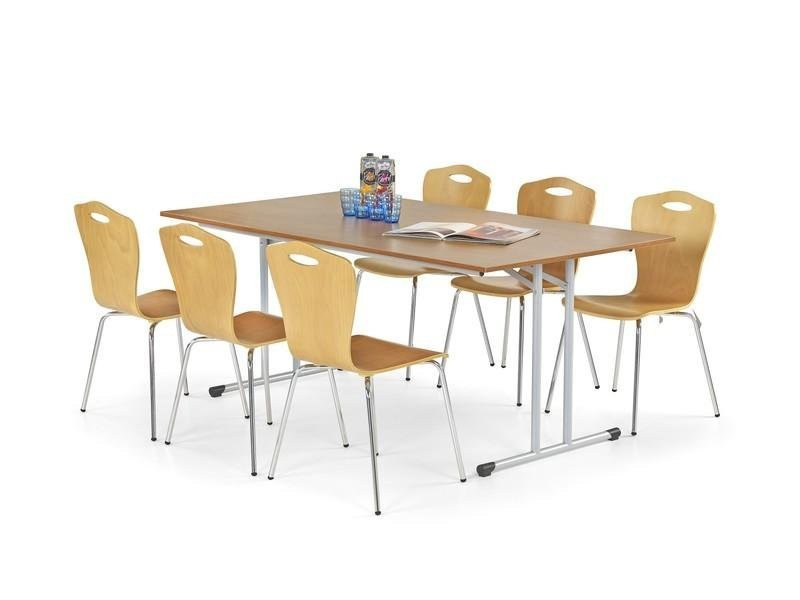 Jedálenský stôl Gordon (buk,oceľ)