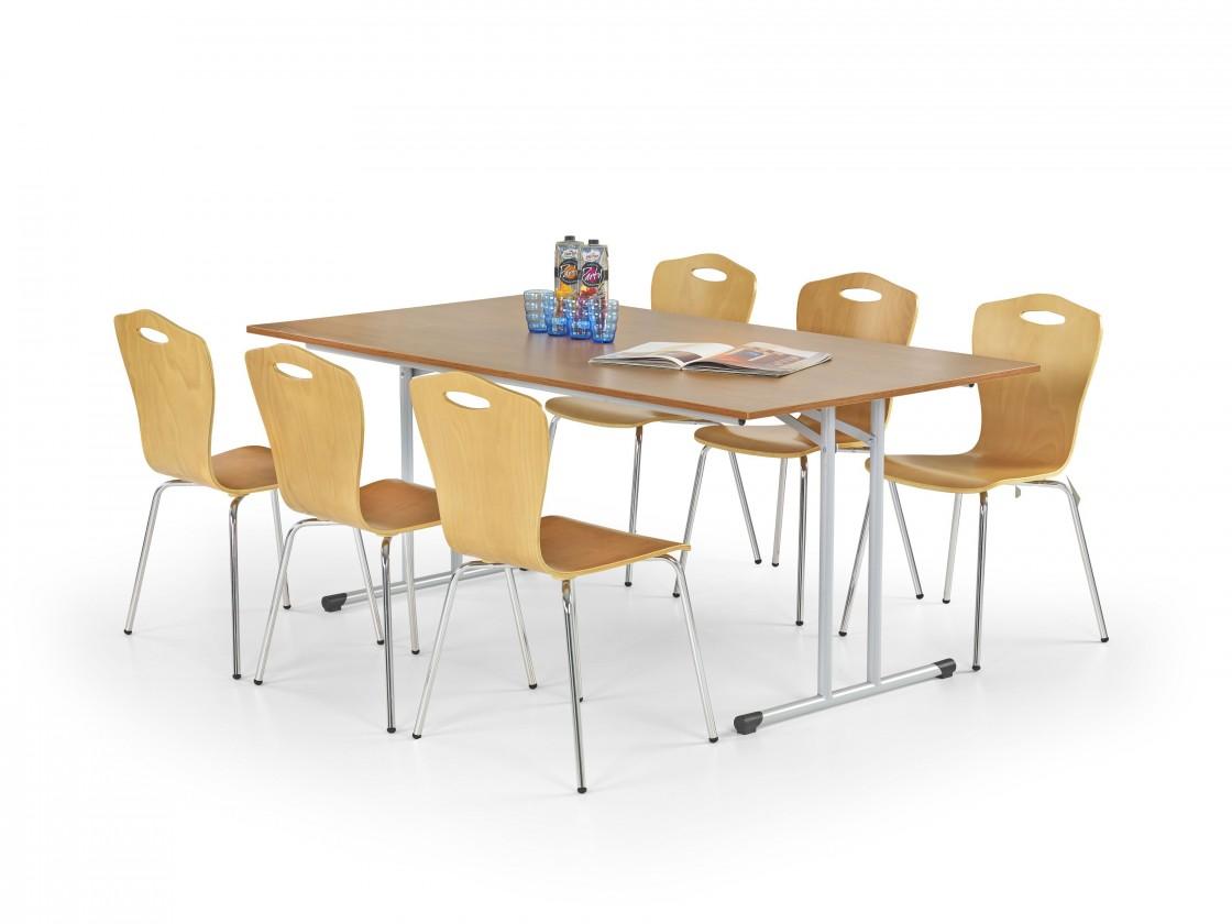 Jedálenský stôl Gordon (jelša,oceľ)
