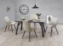 Jedálenský stôl Halifax - 160x90x76 cm (beton/černá)