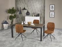 Jedálenský stôl Horizon - rozkladací (kouřově šedá/černá)