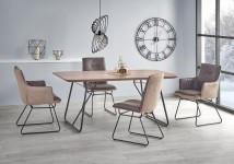 Jedálenský stôl Houston - 180x90x76 cm (ořech/černá)