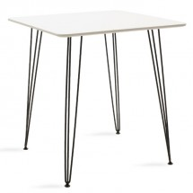 Jedálenský stôl Jans (biela, čierna)