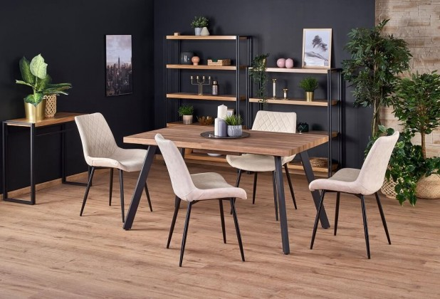 Jedálenský stôl Jedálenský stôl Billy rozkladací (orech, čierna)