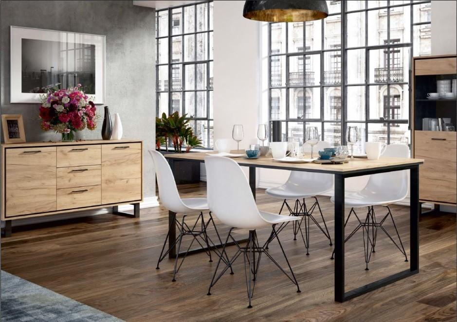 Jedálenský stôl Jedálenský stôl Brick (dub craft/černá)