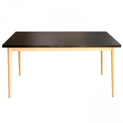 Jedálenský stôl Jedálenský stôl Bryne rozkladací (čierna, dub sonoma)