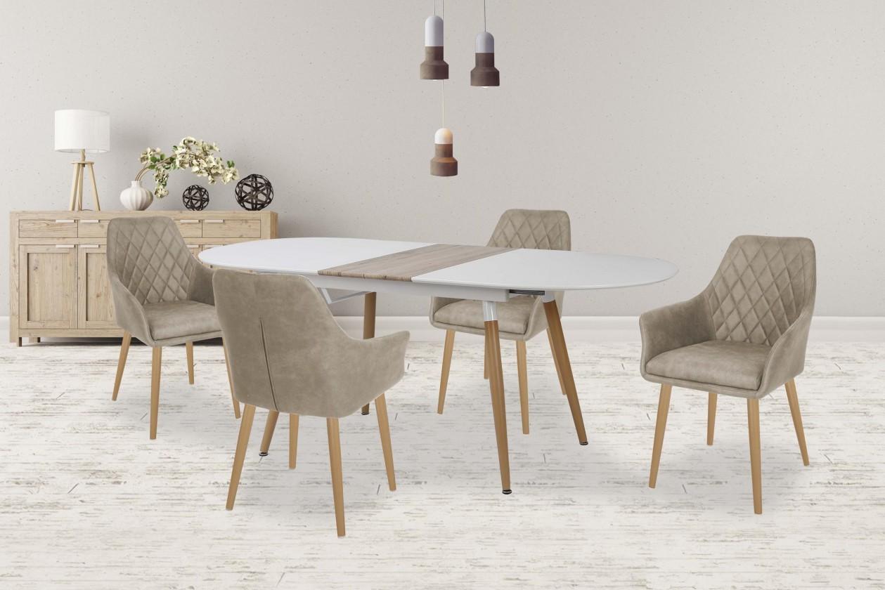 Jedálenský stôl Jedálenský stôl Caliber - rozkládací (160/200x76x90)