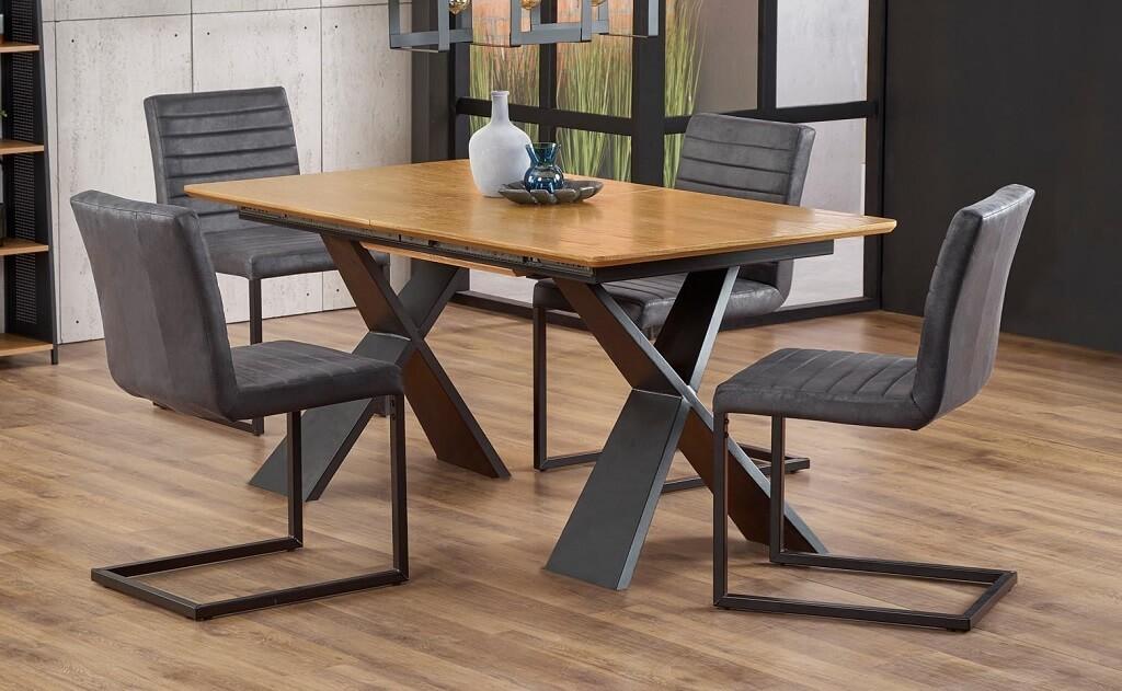 Jedálenský stôl Jedálenský stôl Cassius rozkladací (dub, čierna)