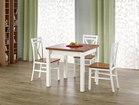 Jedálenský stôl Jedálenský stôl Gracjan rozkladací 80-160x80 cm (jelša, biela)