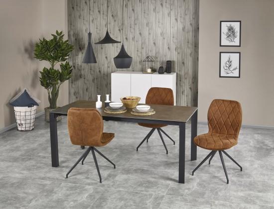 Jedálenský stôl Jedálenský stôl Horizon - rozkladací (kouřově šedá/černá)
